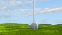 "Advertising concept ""Hole in One"" golf balls"